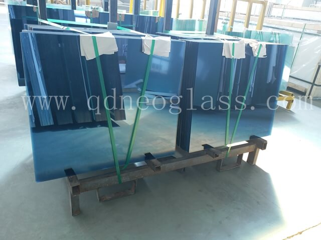 Blue Heat Strengthened Laminated Glass 5