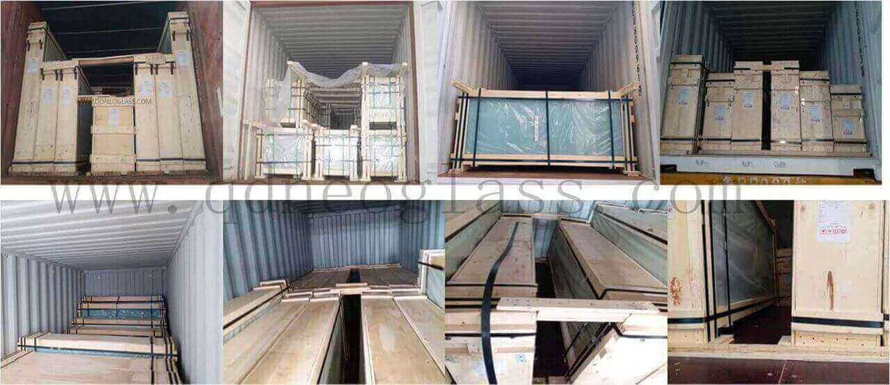 Container Fasten of Laminated Glass and Tempered Glass