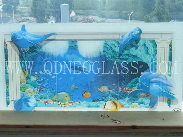 Toughened Laminated Glass With Digital Printing Design-AS/NZS 2208: 1996, CE, ISO 9002
