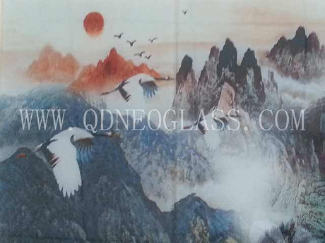 Laminated Tempered Glass With Digital Printing Design-AS/NZS 2208: 1996, CE, ISO 9002