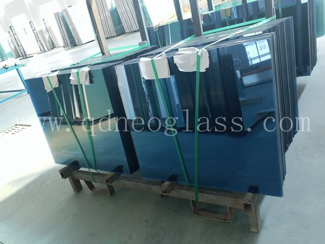 Blue Heat Strengthened Laminated Glass,Heat Strengthened Blue Laminated Glass, Heat Strengthened Blue Balustrade Laminated Glass, Heat Strengthened Blue Balcony Laminated Glass, Blue Laminated Glass Cut To Size