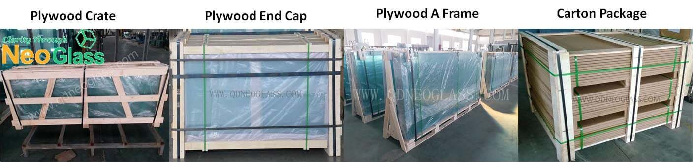 Strong Package Of Tempered Glass Door Panel