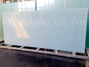 2.7mm +0.38mm +2.7mm Milky White Laminated Glass-AS/NZS 2208: 1996, CE, ISO 9002